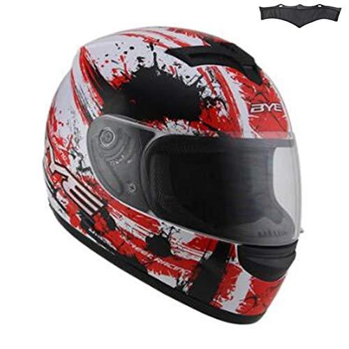 Qianliuk casco nero gloss motocross downhill casco completo motobiker casco classic bicicletta racing helmet