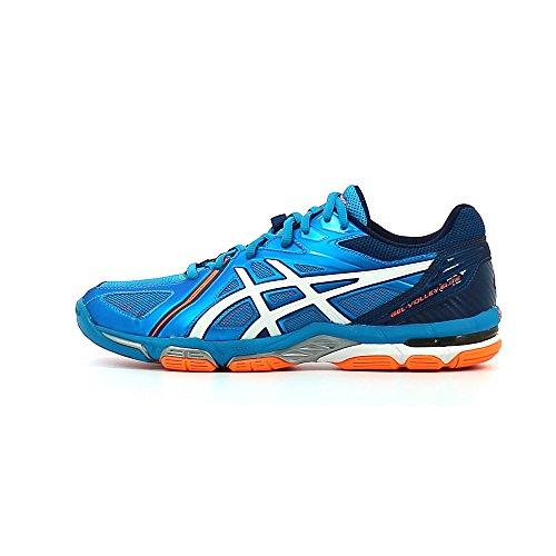 Asics Gel Volley Elite 3, Chaussures de Volleyball Homme Blue Jewel / White / Hot Orange