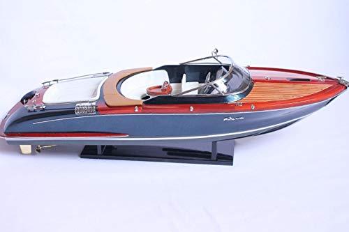Générique modellino in legno del motoscafo riva aquariva, 53 cm