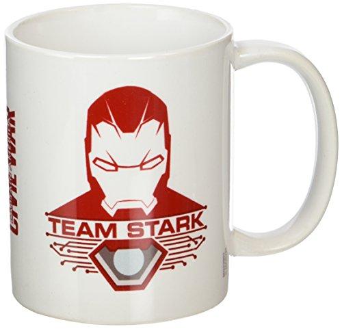Captain America della guerra civile Stark-Tazza in ceramica, multicolore