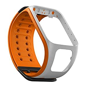TomTom Bracelet de Montre Gris clair / Orange  - Taille Large (ref 9URE.001.02)