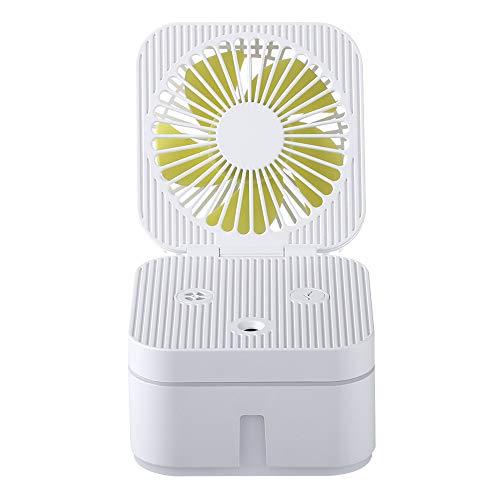 WSSZZ319 Ventilador Humidificador Mini Ventiladores De Mesa con Ventiladores Ajustables LED Night...