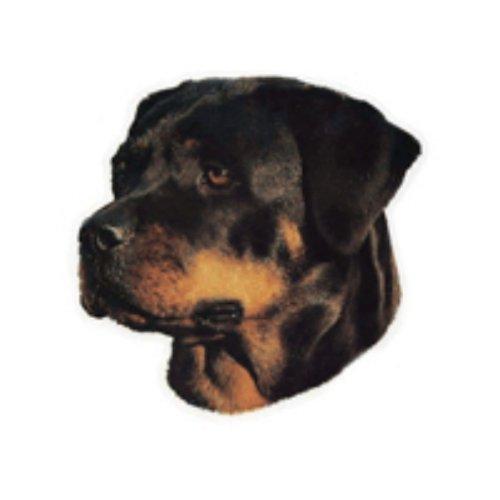 World Stickers Schwandt Heimtierbedarf 13009 Aufkleber 2 Stück ca. 140 x 160 mm für Warnschild Rottweiler Kopf -