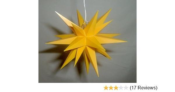 a1 = 13 cm Herrnhuter Sterne 3er Set LED rot inkl Netzgerät für 3 Sterne