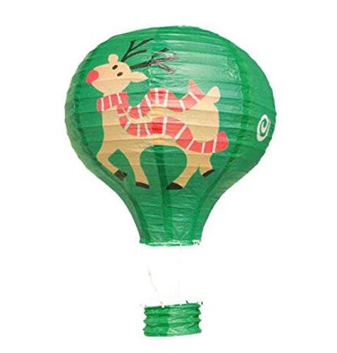 Black Temptation Geburtstagsparty/Weihnachten/Ostern/Mall Dekoration hängen Papier Laterne Heißluftballon 30cm(Kitz)