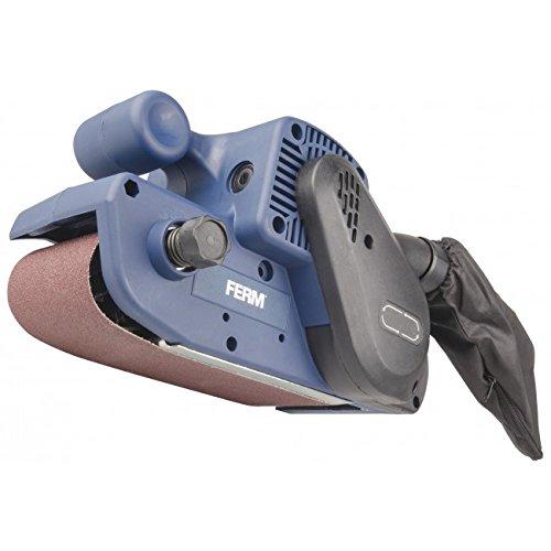 FERM BSM1024 Bandschleifmaschine 950W - Variable Einstellbare Schleifgeschwindigkeiten - Mit Schleifband P80 und Staubfangsack