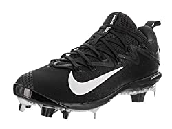 Nike Mens Lunar Vapor Ultrafly Elite Black/White/Black Baseball Cleat 9. 5 Men US