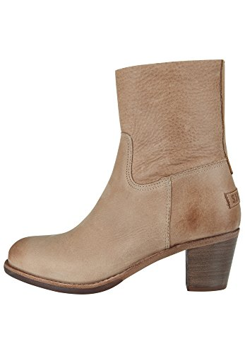 Shabbies Amsterdam Shabbies Stiefelette Mit Reisverschluß, Bottines femme Marron Clair