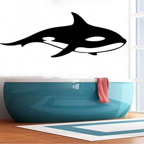 Verkauf Aushöhlen Killerwal Wandaufkleber Wasserdichte Wandbild Für Raumdekor PVC Selbstklebende Tapete 120x44CM