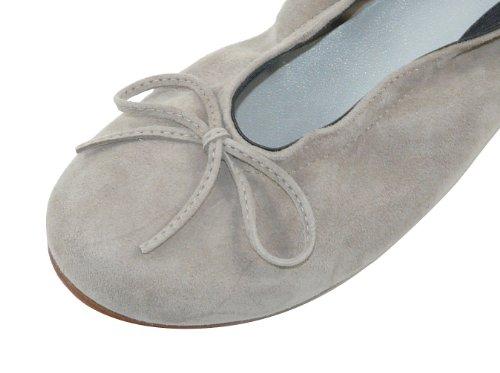 clic! CL- 4278 DE Mädchen Ballerinas mit Schleife Beige (Ante Ceniza)