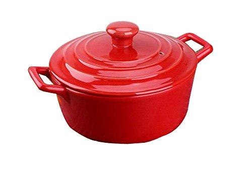 ceramica pentola casseruola di ceramica color polenta Pentola POT della minestra orecchie vaso di ceramica resistenti al calore