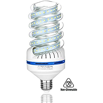 Light Bombilla LED E27, 30 W equivalente a 250 W, Blanca Fria