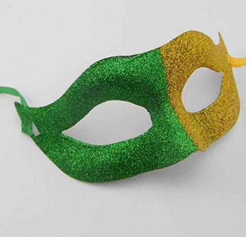 Glitter Kostüm Ball - QTJKH Horror Maske Venezianische Maskerade Fans Glitter Ball Maske Lustige Kostüm Bühne Machen Spaß Männer Frauen Half Face Masks Partei Requisiten