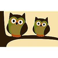 Cute Owl Rug Bathroom Kitchen Front doormat,Welcome Owls Door Mat 23.6 x15.7inch