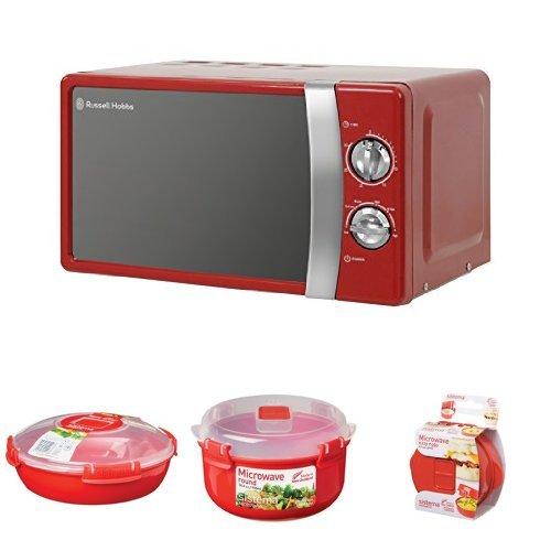 Russell Hobbs RHMM701R Manual Microwave and 3-Piece Sistema Microwave Cooking Set