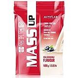 Activlab Mass Up Paquet de 1 x 1200 g Gagnant de Masse Protéines de lactosérum Whey Protein Powder Glucides Gain Musculaire (Blueberry)