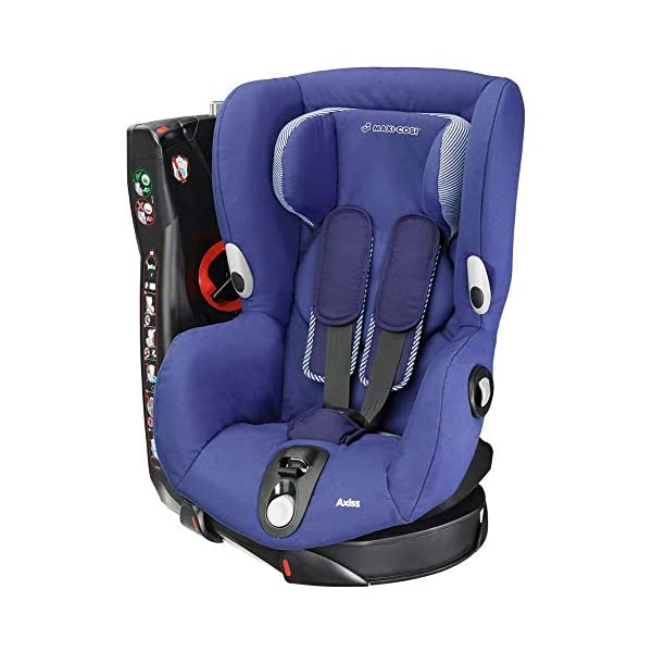 Maxi-Cosi Axiss Swiveling Toddler Car Seat, Extra Secure Fit, Reclining, 9 Months-4 Years, 9-18 kg, River Blue Maxi-Cosi Toddler car seat, suitable from 9 months to 4 years (9-18 kg) Swivels 90 degrees allows for front-on access to get your toddler in and out of the car more easily Maxi-Cosi Axiss car seat has eight comfortable recline positions 1