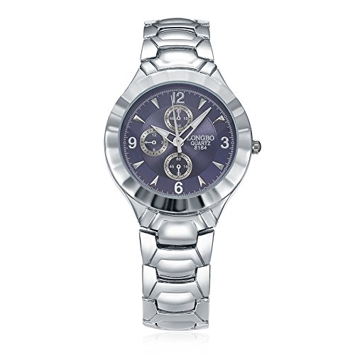 Faysting EU donna orologio da polso orologio al quarzo con corda acciao bianco quadrante viola acciaio elegante stile