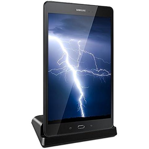 kwmobile Estación de carga micro USB para Samsung Galaxy Tab A 9.7 T550N / T555N - Docking station micro USB cable de carga soporte de carga en