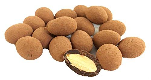 Edelmond geröstete Bio Mandel in 70 % Kakao - Zartbitterschokolade. Handarbeit Nüsse in Schokolade aus nur 4 Zutaten. Vegan (Kakao Mandeln)
