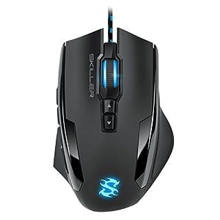 Sharkoon Skiller SGM1 Gaming Maus mit Makrotasten (10800 DPI, RGB-Beleuchtung, 12 Tasten, Weight-Tuning-System und Software) schwarz