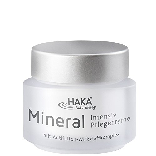 HAKA Pflegecreme Mineral Intensiv I 50 ml Tiegel I Anti Falten Creme für Damen I Tagescreme,...