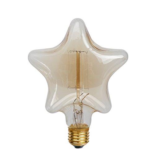 Edison Glühbirne, Balimo E27 Pentagonale Glühlampe 40W G80 Retro Birne Dimmbar Filament Warmweiß Dekorative Glühbirne Ideal für Nostalgie und Antike Beleuchtung - 4 Stück -