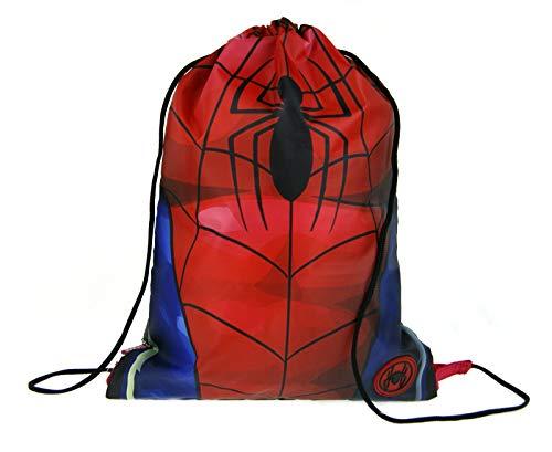 Marvel Spiderman - Bolsa de deporte con cordón Rojo Torso Talla única