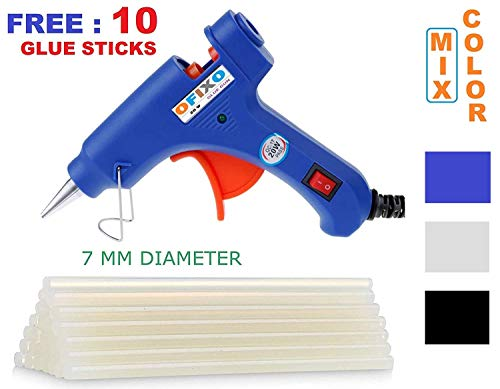 Ofixo 20W 10 Glue Sticks Hot Melt Glue Gun Kit (Multicolor)