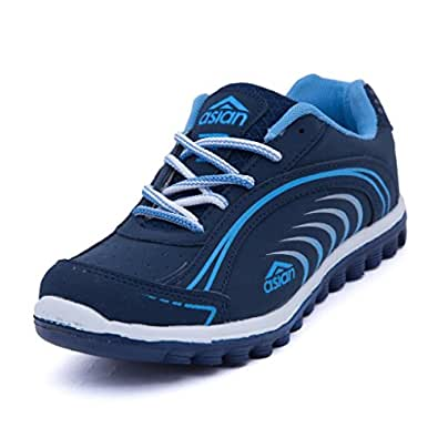 Asian Shoes Women's Navy Blue Sky Running -4 Uk