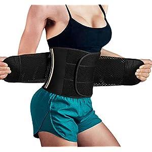 Bingrong Figurformend Bauchweggürtel Neopren Fitness Body Shaper Sport Fitnessgürtel Abnehmen Schwitzgürtelextra stark Sauna- & Schwitzeffekt Sanduhr Figurformer mit Klettverschluss