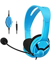 AmazonBasics Gaming Headset - compatible with Nintendo Switch, Xbox One, PlayStation 4 and PC - Blue