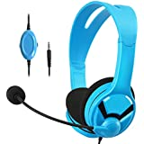 AmazonBasics Gaming Headset - compatible with PC, PlayStation 4, Xbox One and Nintendo Switch- Blue