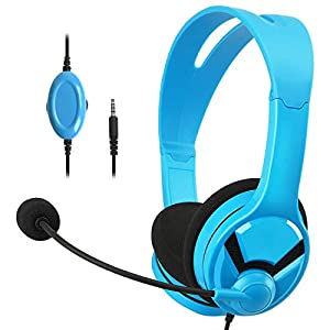 Amazon Basics – Gaming-Headset – Kompatibel mit Nintendo Switch, Xbox One, PlayStation 4 und PC, Blau