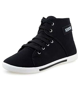 Leewon Men's Black Sneakers-6