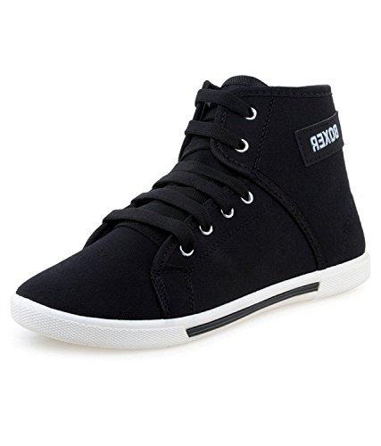 LOPEZ Men's Fashionable Black Sneaker Boxer