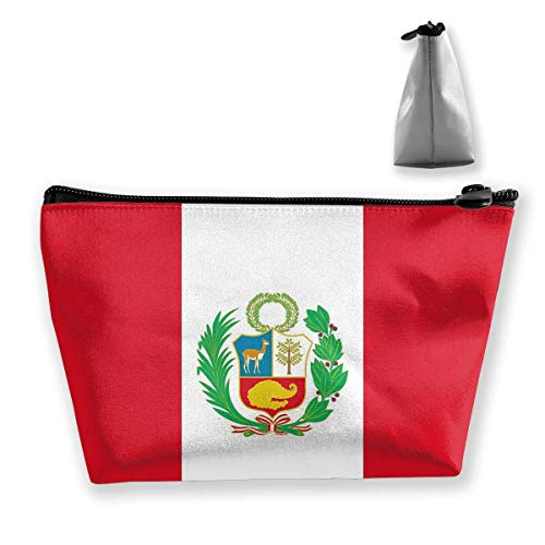 Kosmetiktasche für Frauen-Make-upbeutel-Münzen-Geldbeutel-Nette Reise-Organisator-Tasche Peru-Flagge (Peru Münzen)