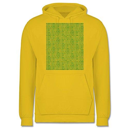 Programmierer - Binärcode - Männer Premium Kapuzenpullover / Hoodie Gelb