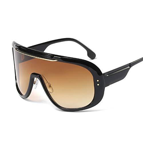 SYQA Sonnenbrille Futuristische Oversized One Piece Sonnenbrille Frauen Markendesigner Flat Top Gradient Sonnenbrille Männer Shades Female Goggle,C2