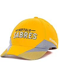 Reebok Buffalo Sabres 13 NHL Practice Yellow Flexfit Hat Cap