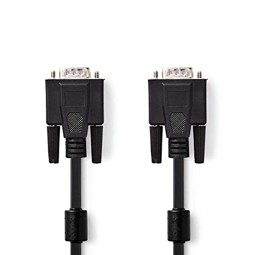 Nedis VGA-Kabel, Stecker auf Stecker, 5 m, Schwarz -
