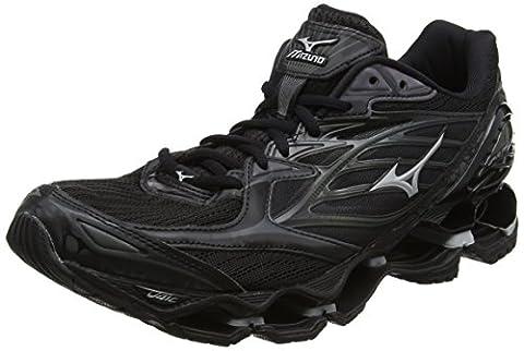 Mizuno Wave Prophecy 6 Nova, Chaussures de Running Entrainement Homme, Noir (Black/Silver), 42 EU