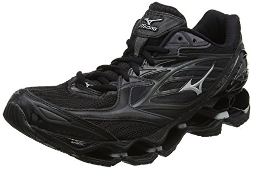 Mizuno Men's Wave Prophecy 6 Nova Running Shoes, Black (Black/Silver), 7 UK 40 1/2 EU