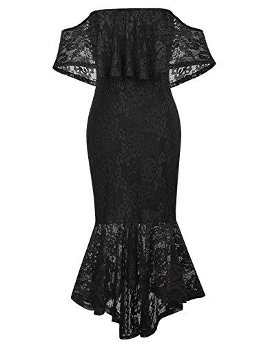 meerjungfrau Kleid Off Shoulder lang Kleider Party Rockabilly Kleid Spitze Kleid M CL610-1