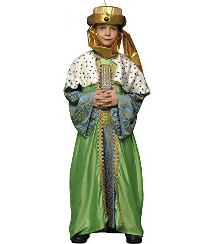 Imagen de disfraz de rey mago verde para niños en varias tallas