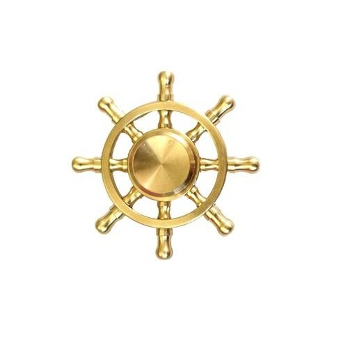 Premsons High Quality Metal Fidget Spinners (Gold Ship Wheel)