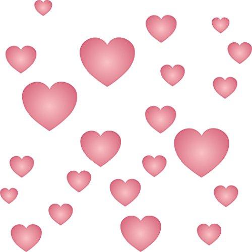 Herz Schablone-wiederverwendbar Valentine Love Tiny Hearts Form Wand Schablone-Vorlage, auf Papier Projekte Scrapbook Tagebuch Wände Böden Stoff Möbel Glas Holz usw. m -