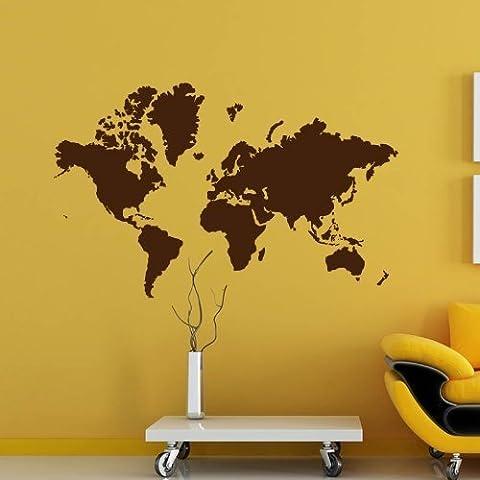 Weltkarte 91 x 59cm- Farbe: Grau