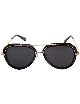 Ogobvck Gafas de sol para las mujeres de los hombres de metal Frame UV400 aviador Unisex