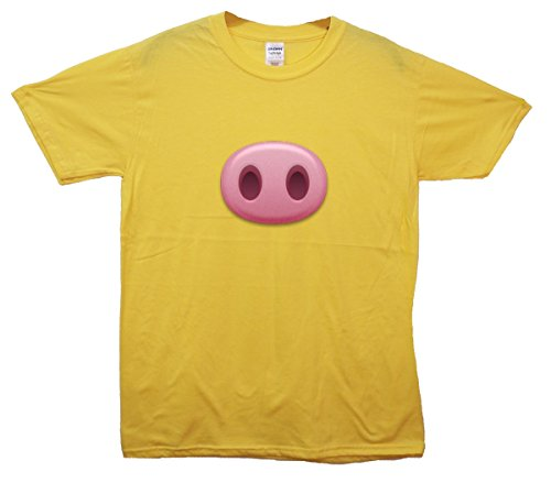 Pig Snout Emoji T-Shirt Gelb